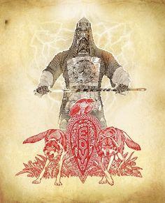 Перун Максим Кулешов (Ладога) художник-славянист. Родные Боги