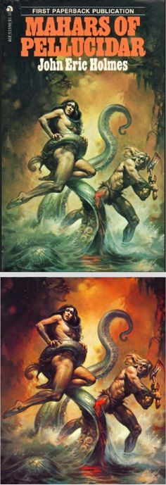 BORIS VALLEJO - Mahars of Pellucidar by John Eric Holmes - 1976 Ace Books - cover by isfdb - print by fantasy.art.passion.free.fr