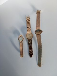 3 VINTAGE 1970's GOLD METAL LADIES WRIST WATCHES SEKONDA USSR SEIKO LIMIT parts