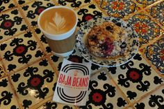 Let's start a Baja roadtrip with a fresh cup of organic Mexican coffee and a blueberry scone from Baja Beans Coffee Around The World, Roasting Company, Blueberry Scones, Baja California, Places To Eat, Yummy Treats, Road Trip, Beans, Tasty