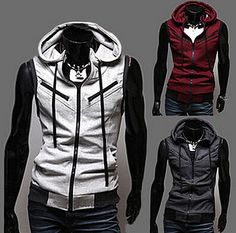 Sleeveless College Style Hoodie HD42   The Brothers Cut