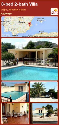 3-bed 2-bath Villa in Aspe, Alicante, Spain ►€179,950 #PropertyForSaleInSpain