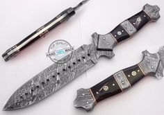 "13.25"" Custom Hand made Beautiful Damascus Steel dagger Knife (AA-0217-3) #KnifeArtist"