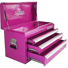 """Another great storage idea! 26"""" 3 Drawer Top Chest, Pink- The Original Pink Box"""