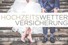 HOCHZEITS-HOCHSAISON: Immer mehr Brautpaare heiraten im Herbst. Schlechtwetter? Kein Problem mit der Hochzeitswetterversicherung. Denn damit gibt's bei Regen am Hochzeitstag 5.000 € Pauschalentschädigung