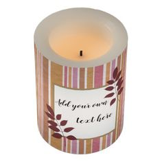Trendy stripes with area to write your text flameless candle - stripes gifts cyo unique style