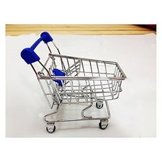 loveUshop Quality Cute Mini Shopping Cart Desktop Storage Basket Organizer Christmas Gift * Details can be found by clicking on the image.
