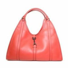 Gucci Large Bardot Tote in Coral Pebbled Leather 265698 – Nae's Fashion Passion