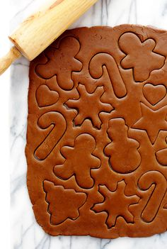 Gimme Some Oven Gingerbread Cookies Christmas Desserts, Christmas Treats, Christmas Baking, Holiday Treats, Holiday Recipes, Italian Christmas, Christmas Holidays, Ginger Bread Cookies Recipe, Cookie Recipes