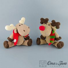 Buy Reindeer and Moose amigurumi pattern - Amigurumipatterns.net