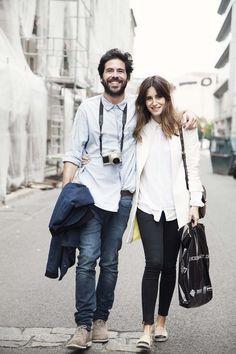Couple shirt beard fashion men women tumblr Style streetstyle denim fashion women couple fashion duo in love
