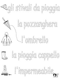 Italian Worksheets for Kids ~ Spring Printout Italian ~ Italian ...