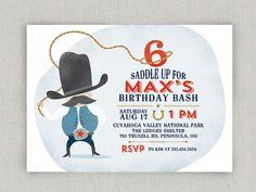 Cowboy Party Invitations