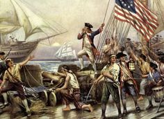 """John Paul Jones was a Scottish sailor and the United States' first well-known naval fighter in the American Revolutionary War. On September 23, 1779, Jones fought one of the bloodiest engagements in naval history. Jones struggled with the 44-gun Royal Navy frigate Serapis, and although his own vessel was burning and sinking, Jones would not accept the British demand for surrender, replying, """"I have not yet begun to fight."""" More than three hours later, Serapis surrendered."""