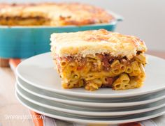 Slimming Eats Syn Free Pastitsio - gluten free, vegetarian, Slimming World and Weight Watchers friendly