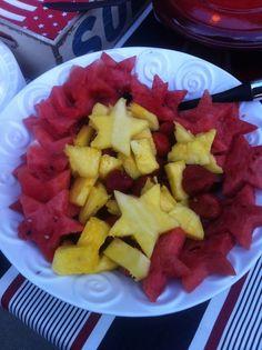 Star-shaped fruit festive food 4th of July food ideas