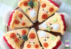 Amigurumi Food: Combo Pizza Night + Beer!! New Crochet Pattern! Happiness is a slice of pizza…