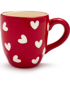sur la table red and white hearts mug $10.00 at Sur La Table
