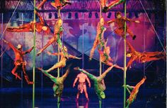 Cirque du Soleil  Treasure Island Las Vegas Mystere saw them 60th B-day 2001