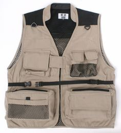 Free Shipping Man's Photography Vest Multi Pocket Fishing Vest Outdoor Hiking Waistcoat Director Reporter VT 021-inVests & Waistcoats from Men's Clothing & Accessories on Aliexpress.com   Alibaba Group