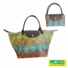 Foldable bag for easy storage: DIAMOND PATTERN. For details and orders please email us at picselsce@gmail.com
