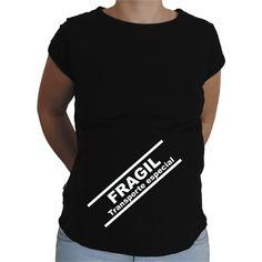 Camiseta para embarazada Divertida - Frágil