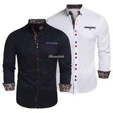 afde6ef7a19ea0 Casual Button Down Long Sleeve Formal Dress Shirts Mens Brand NEW Fashion