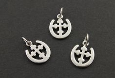 Sterling Silver Cross with horse shoe Pendant or by Beadspoint, $6.99