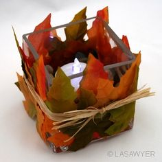 Fall Candle...would be pretty for a fall wedding or baby shower.