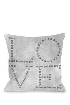 Love Diamonds Pillow - Gray/Black