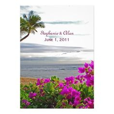 Maui Beach Wedding Invitation