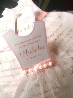 Tutu dress form invitation from a Pink Ballerina Birthday Party on Kara's Party Ideas | KarasPartyIdeas.com (30)
