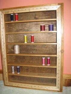 J. & P. Coats Reproduction Thread Spool Cabinet | Thread spools ...