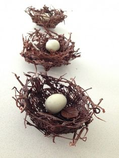 Chocolate Nests how to cook that. Perfect video tutorial