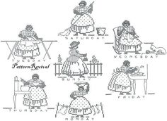 embroidery patterns mammy - Google Search