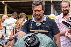 John Torode cooking for a crowd on the #biggreenegg  at #meatopia
