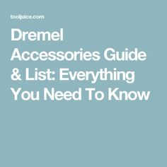 Dremel Accessories Guide & List: Everything You Need To Know - we list the types of Dremel bits, what they're used for, & the best bits for each task Dremel Tool Bits, Dremel Bits Guide, Dremel Tool Projects, Dremel Rotary Tool, Dremel Ideas, Fun Projects, Wood Projects, Dremel Router, Dremel Drill