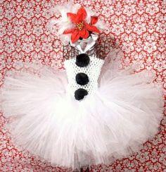 Платье снеговика