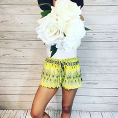 Aztec Printed Elastic Waistband Summer Shorts Super amazing with awesome stretch! These shorts are perfect for a day at the beach or to pair with your fav summer top! 100% Polyester. available in S M L Boutique Shorts