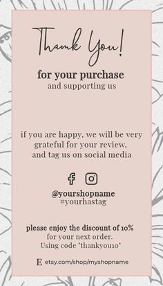 Thank You Card Design, Thank You Card Template, Business Planning, Business Tips, Small Business Quotes, Business Thank You Cards, Thanks Card, Business Inspiration, Small Business Marketing