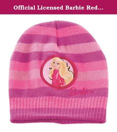Official Licensed Barbie Red & Pink Beanie - Licensed Barbie Mattel Merchandise. Barbie Beanie - Licensed Barbie Mattel Merchandise. 100% Polyester.