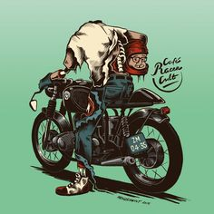 Illustration by Menze Kwint #illustration #design #motorcycles #motos | caferacerpasion.com