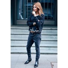 Maja Why wearing the new cK denim series . @calvinklein #mycalvins | available at @anita_hass & @sotostore