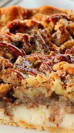 Pecan Cream Cheese Pie This pie recipe looks SO GOOD. Cream cheese and pecan pie all in one? Yes please! What a delicious dessert recipe!