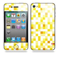 Pixelated Yellow iPhone Skin by TAJTr