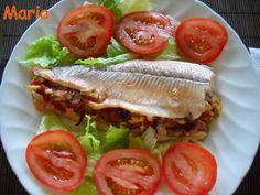 Truchas rellenas con jamón y setas. Ver la receta http://www.mis-recetas.org/recetas/show/21309-truchas-rellenas-con-jamon-y-setas