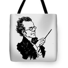 Gustav Mahler Tote Bag featuring the mixed media Gustav Mahler 2a by Otis Porritt