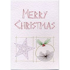 Stitching Cards Star and Pudding