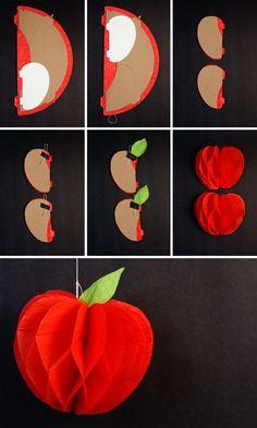 Darling DIY Honeycomb Apples onecharmingparty.com #backtoschoolideas