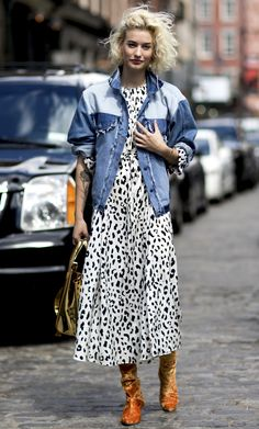 STYLECASTER | Spring Outfit Ideas | Summer Outfits | Two-Toned Jean Jacket